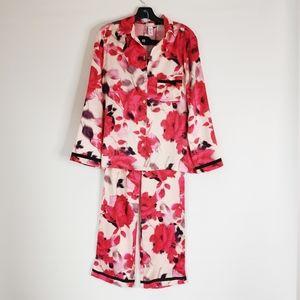 Victorias Secret Satin PJ Set Printed Floral Small